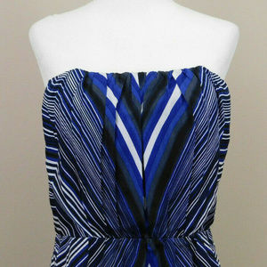 The Limited Sz 8 Strapless Striped Dress